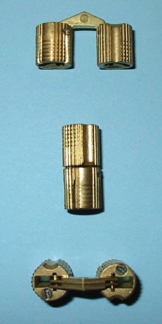 10mm Brass Cylinder Hinge