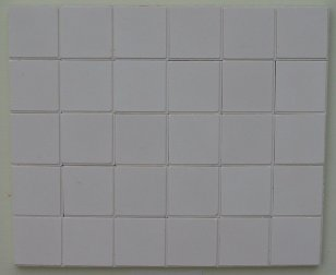White Square Quarry Floor Tiles - Dolls House